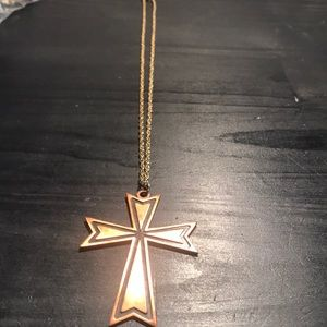"""Other - 3 1/4"""" copper cross on chain"""